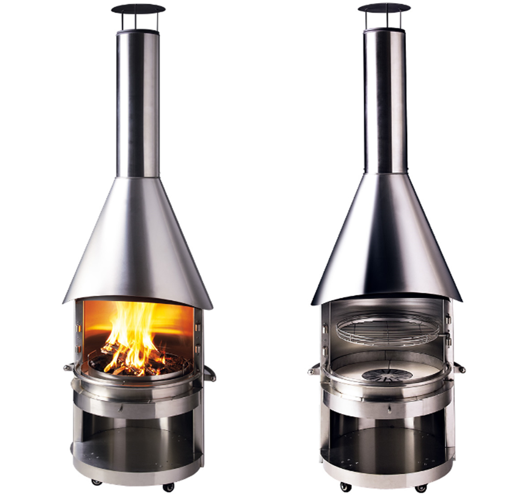 Stainless steel bbq fireplaces from mercatus germany for Fireplace and bbq