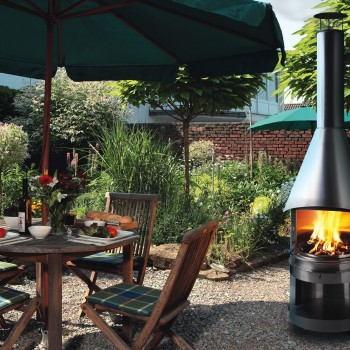 MERCATUS BBQ-Fireplace -FULL STAINLESS STEEL in GARDEN- MOOD PICTURE (4)